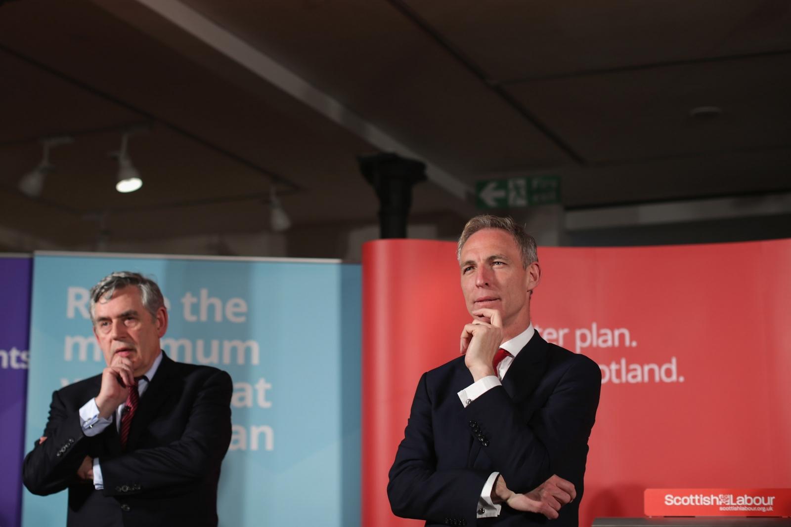 Jim Murphy and Gordon Brown