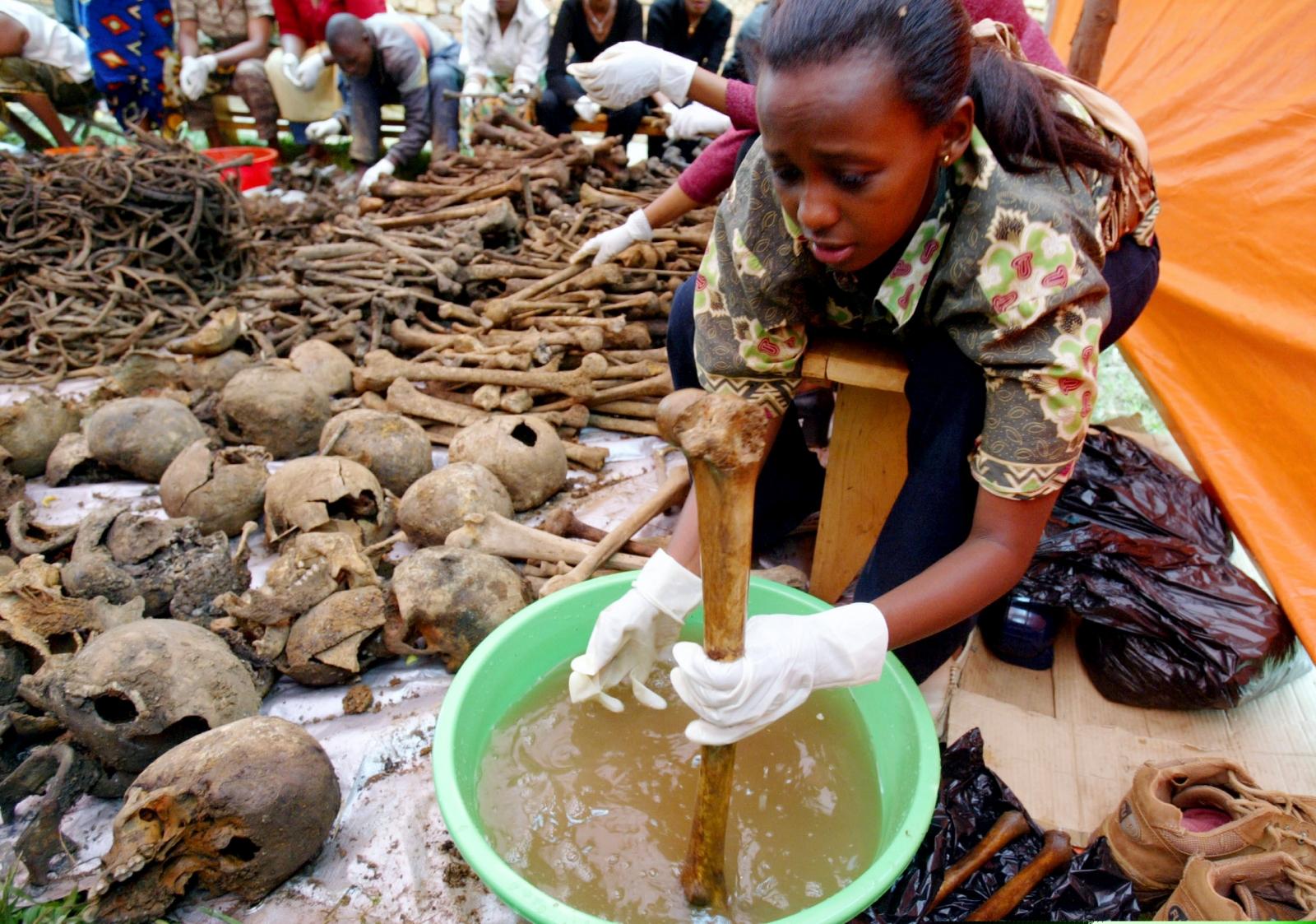 Rwanda genocide skulls