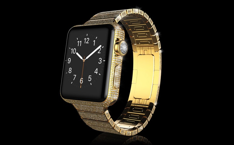 Gold and diamond Apple Watch
