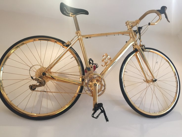 Gold plated bicycle by Gold Genie