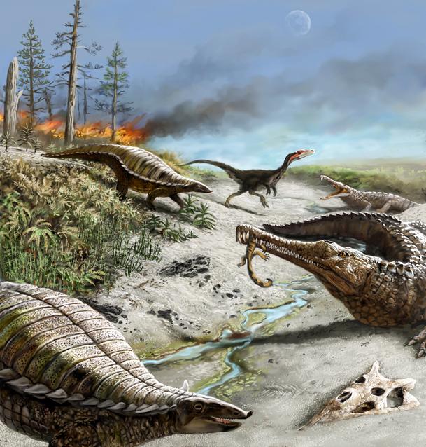 Dinosaurs Battle Wildfires
