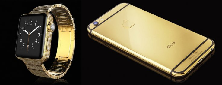Goldgenie's gold Apple Watch and iPhone 6