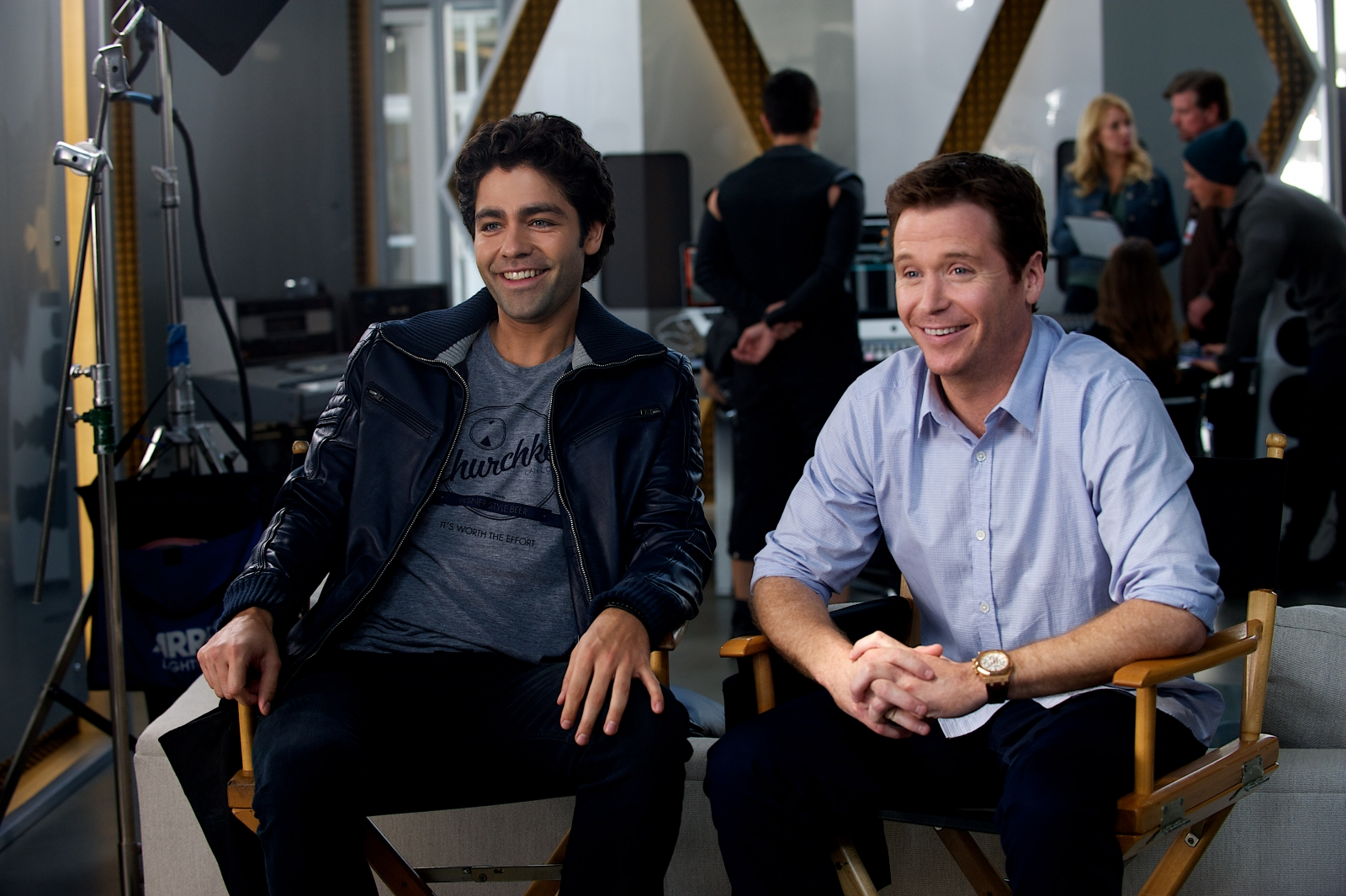 Adrian Grenier and Kevin Connolly in Entourage