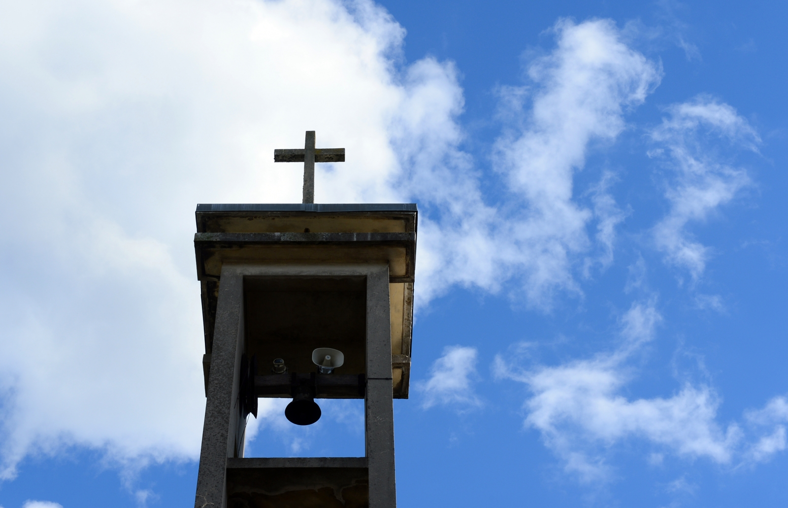 Catholic church steeple in Vierzon, central France