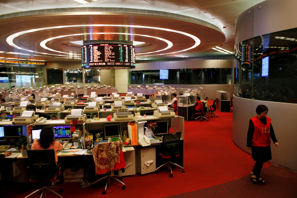 Hong Kong Stock Exchange Trading Floor