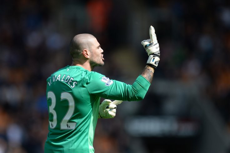 288f5332f Victor Valdes joined Manchester United as a free agent in January Getty
