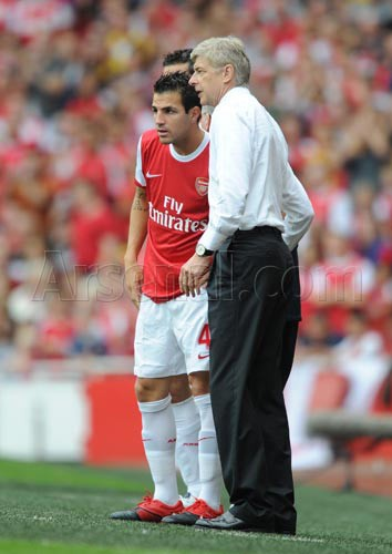 Fabregas with Wenger