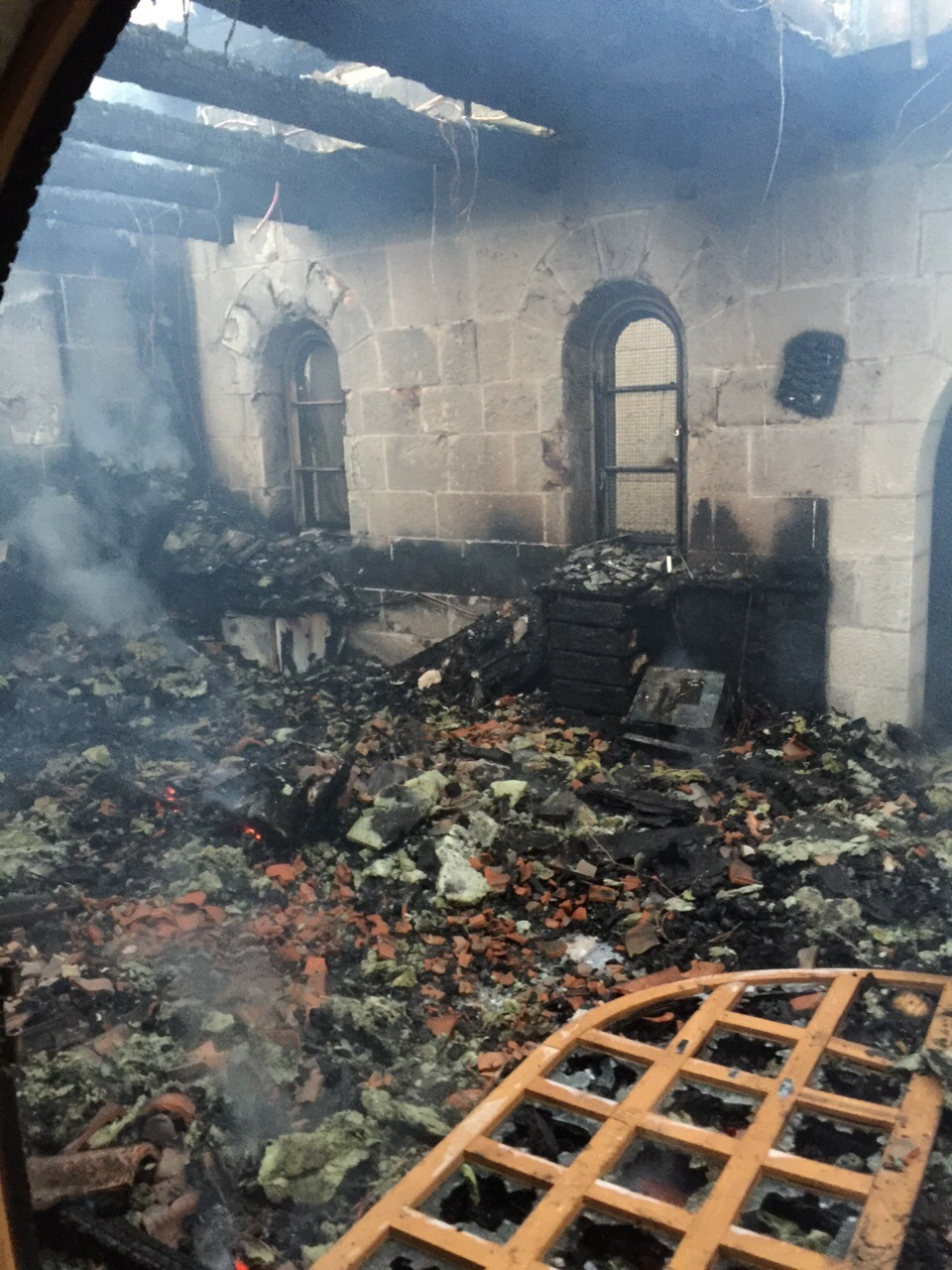 Fire guts Church in Galilee
