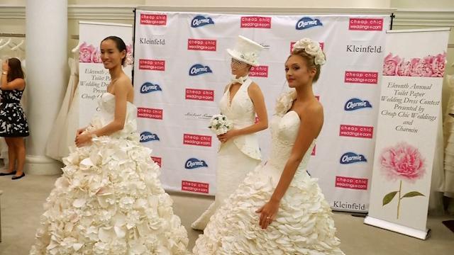 Cheap Wedding Dresses Websites: New York: Designers Create Wedding Dresses Out Of Toilet