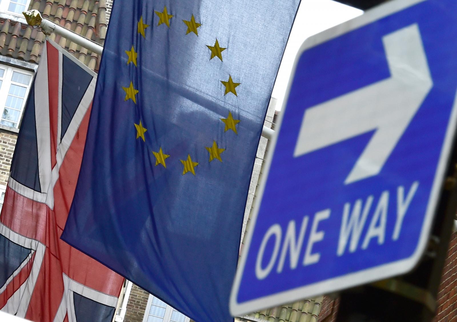Eu Referendum: British and EU Flags