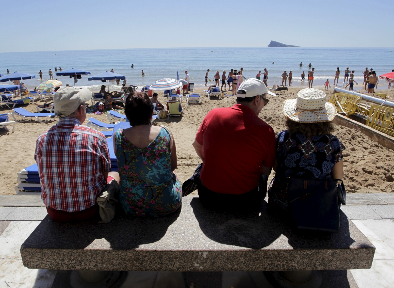 Pensioners in Spain on holiday