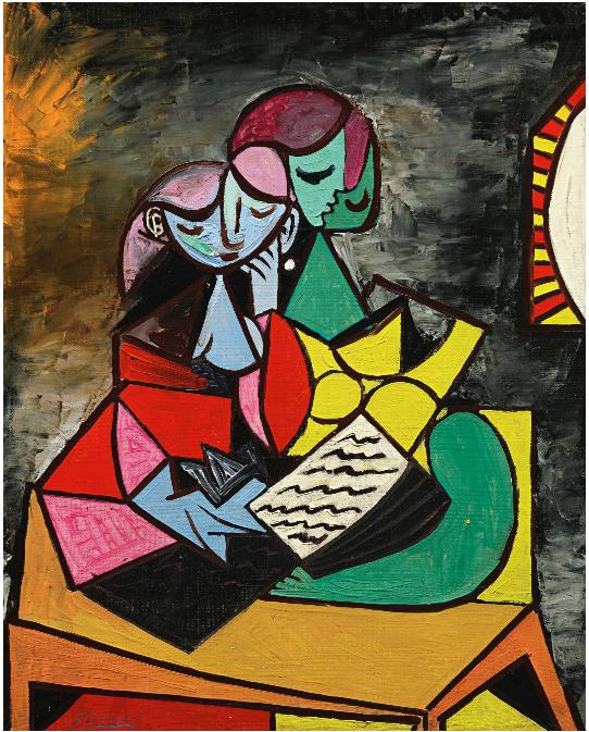 Picasso's Deux Personnages (La Lecture)