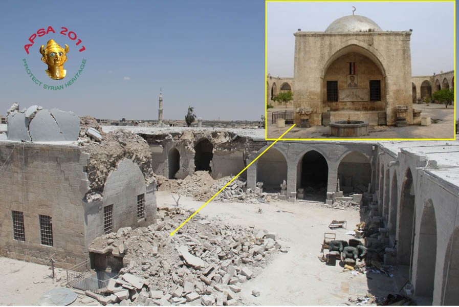 Syrian archaeological site damaged