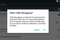 ADB USB Debugging prompt