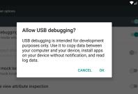 ADB USB Debugging prompt