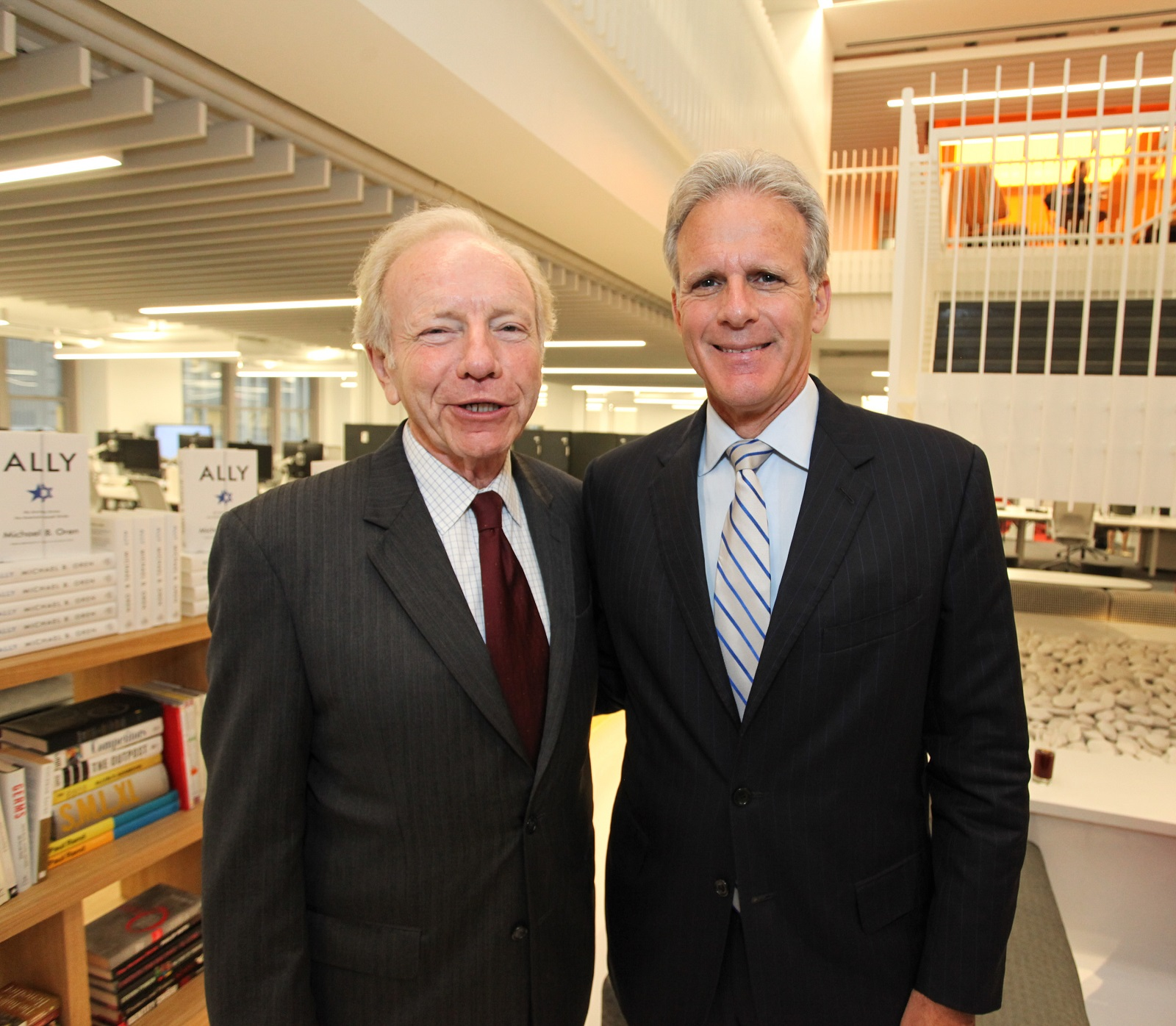 Michael Oren and Joe Lieberman