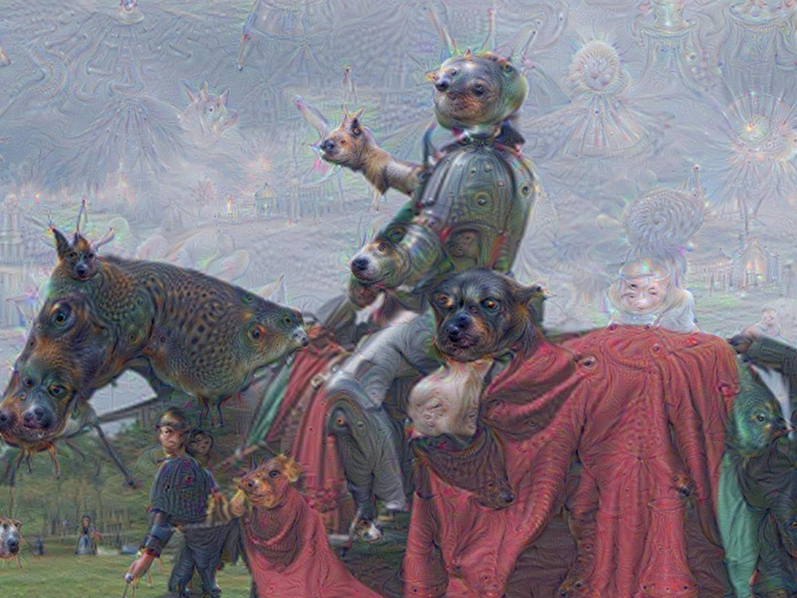 Psychedelic images generated by Google's neural network