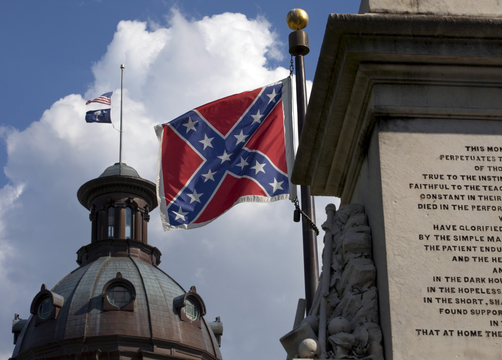 Confederate flag South Carolina Virginia