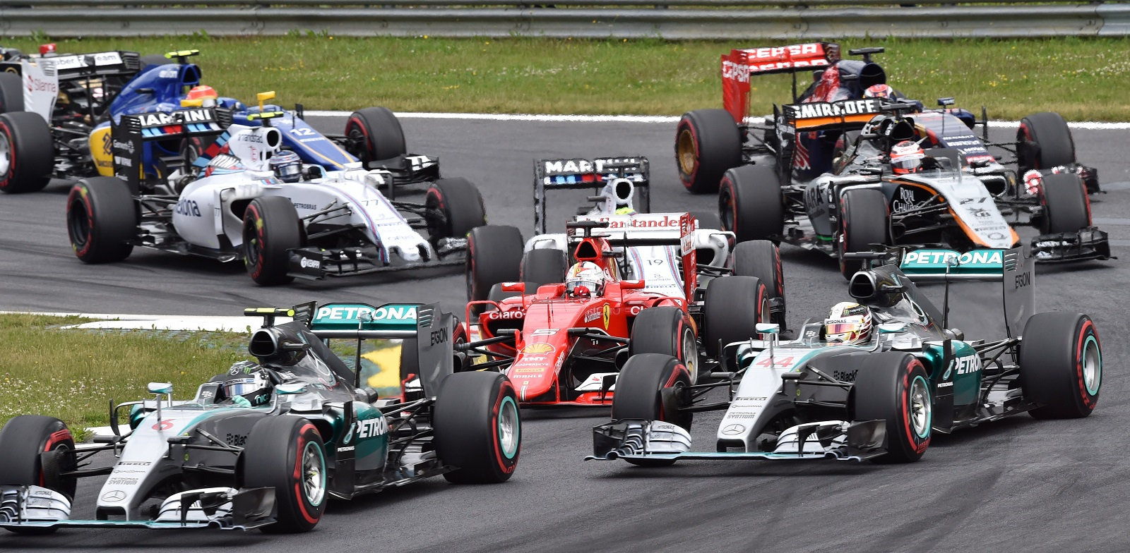 Start of the Austrian F1 Grand Prix