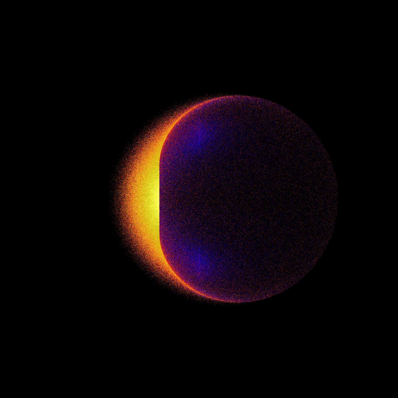 gamma ray light from black hole