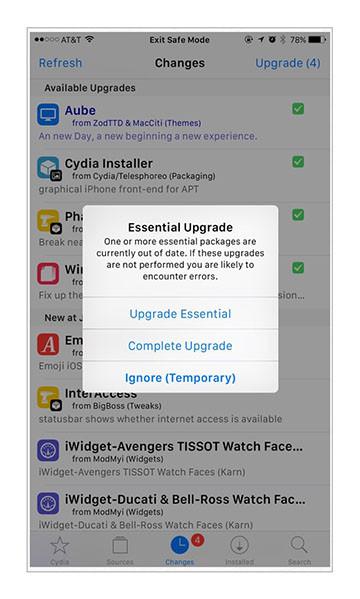 Cydia Installer 1.1.17 update
