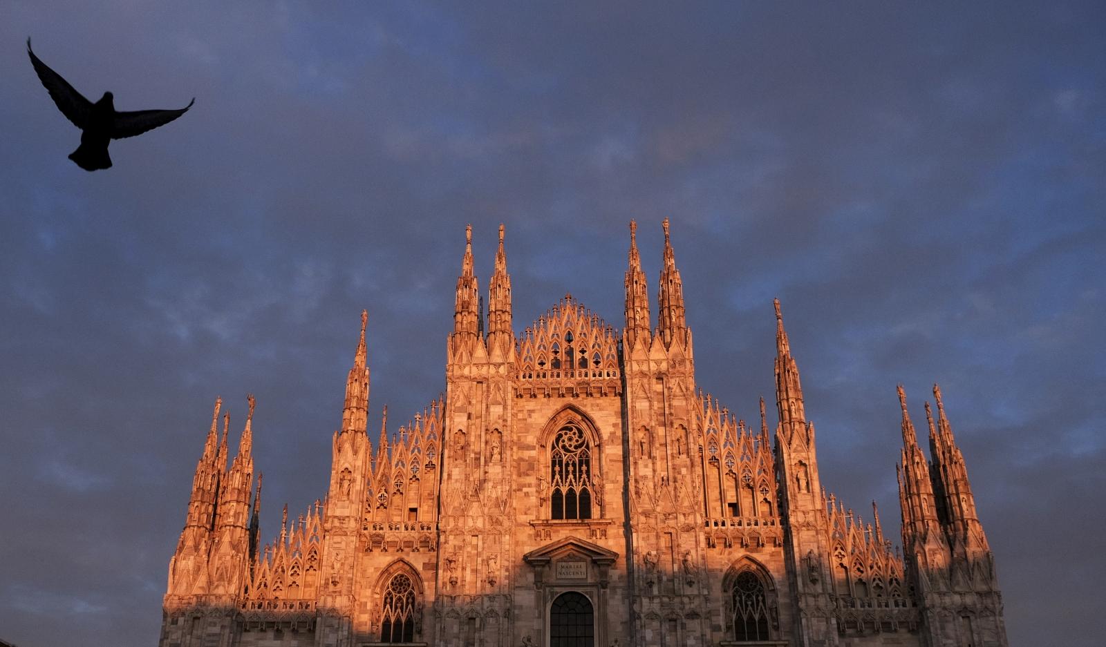 Milan Cathedral in Piazza del Duomo