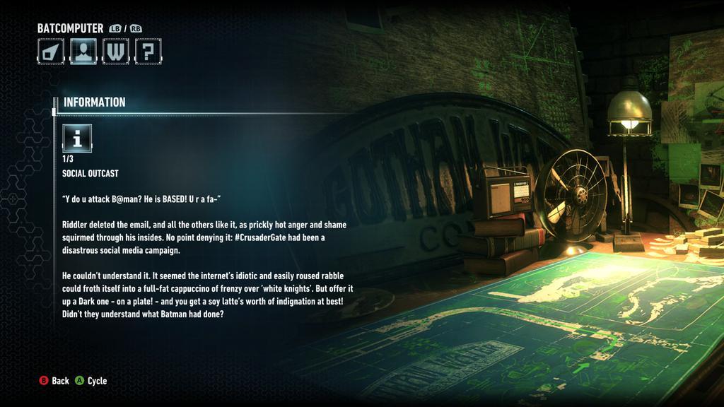 Batman Arkham Knight GamerGate