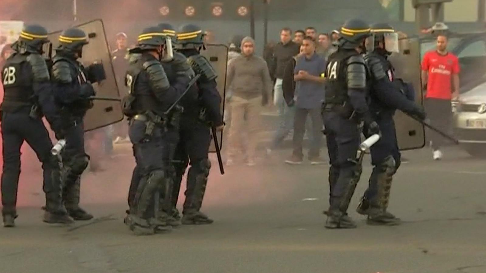 Uber protests Paris