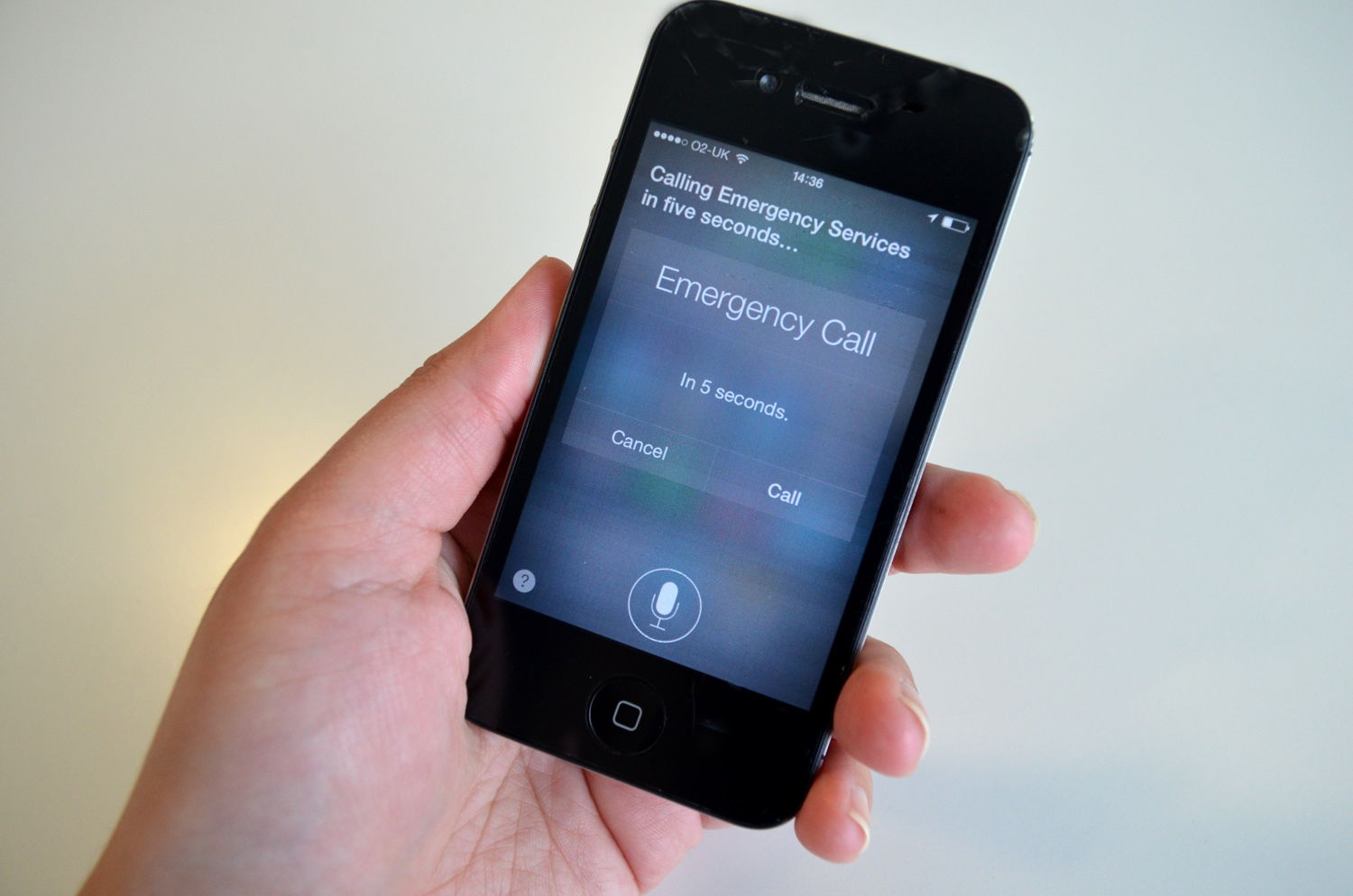 Siri enables you to call emergency services