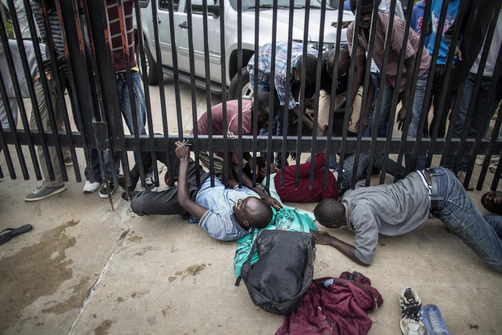 Burundi Hundreds Of Students Camping Outside US Embassy