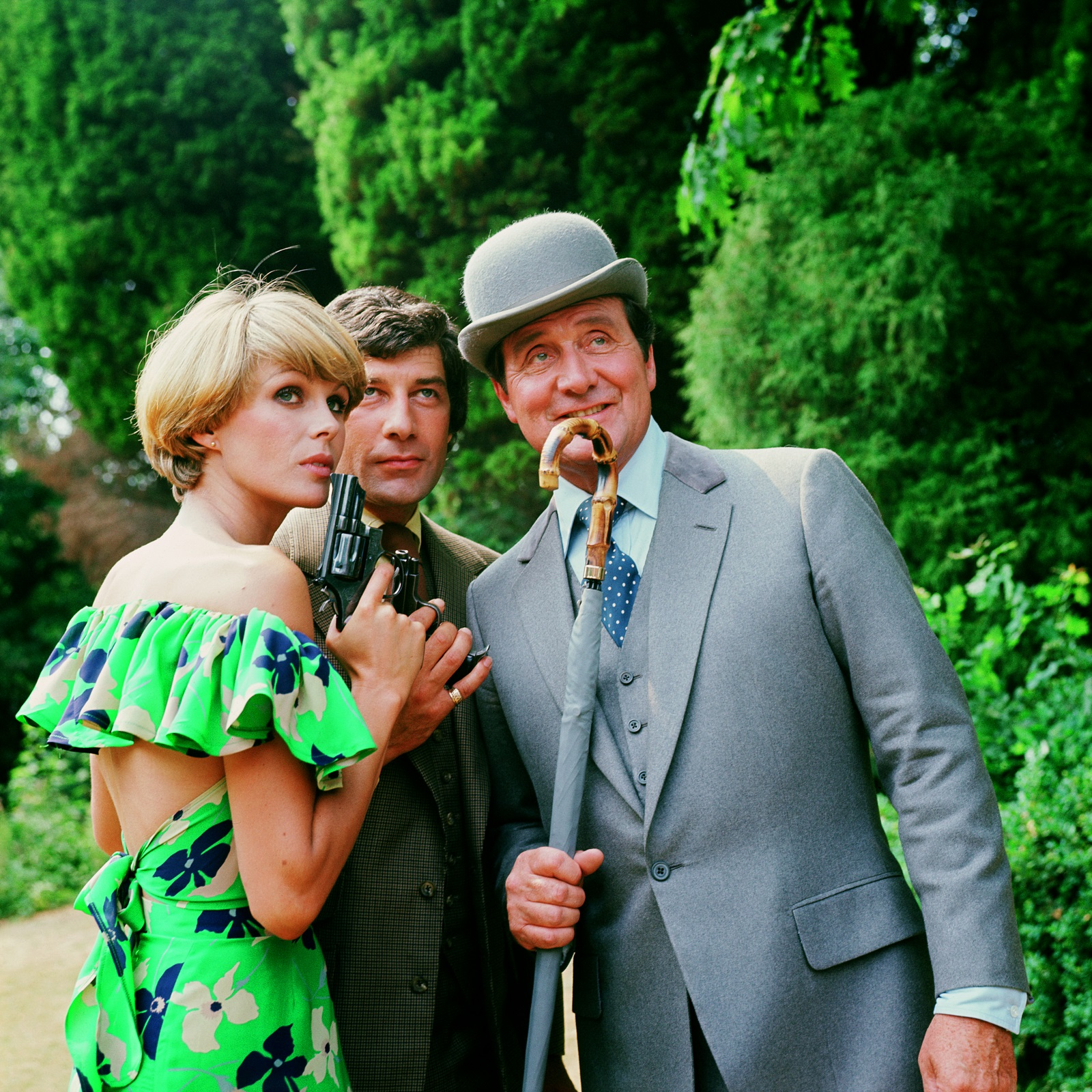 Patrick Macnee, Joanna Lumley and Gareth Hunt