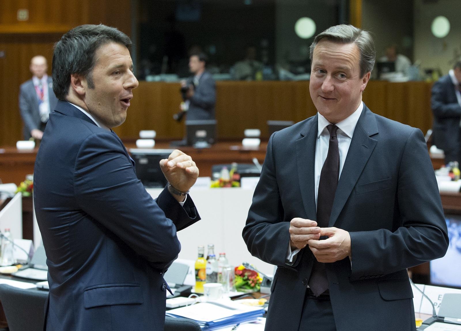 David Cameron in Brussels