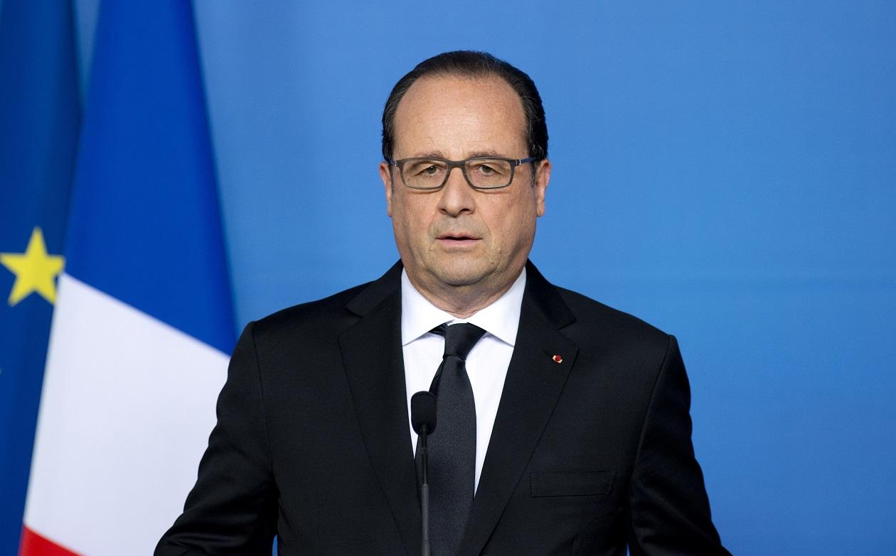 Francois Hollande at EU summit
