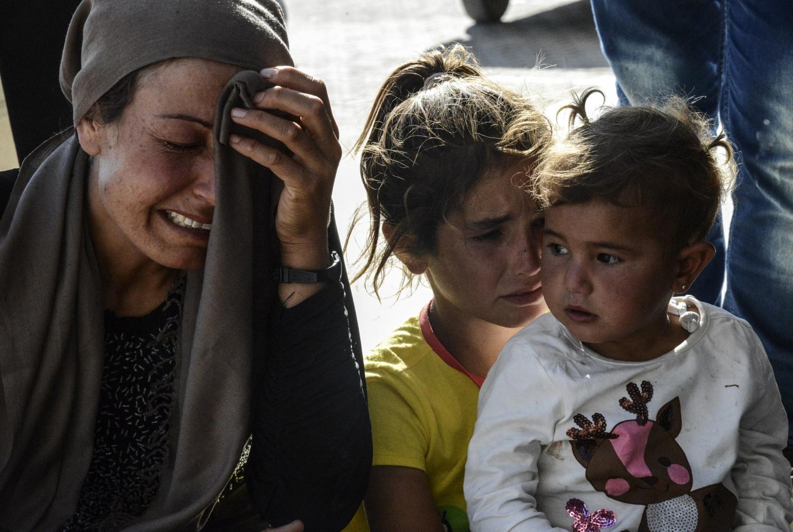Relatives wait for news of those injuredin
