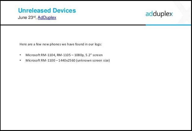 Microsoft Lumia device with Quad HD screen appears in AdDuplex report