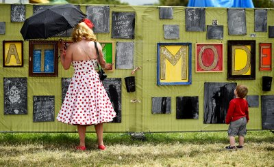 Glastonbury 2015 art display gallery