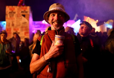 Glastonbury 2015 male reveller