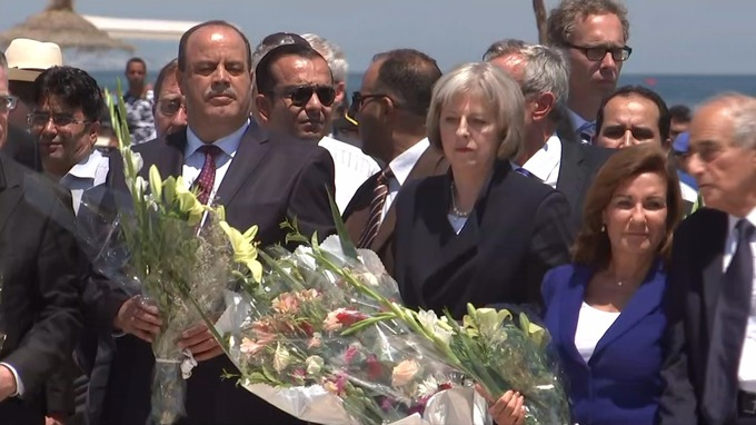 Theresa May in Tunisia