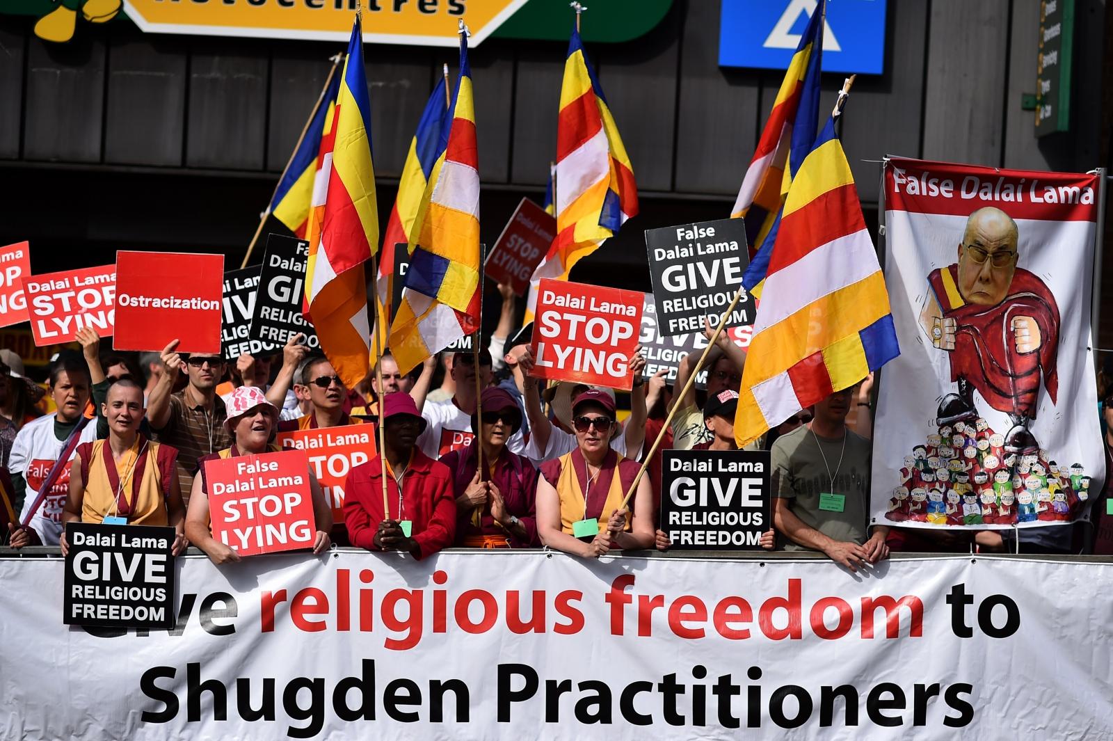 Dalai Lama protests