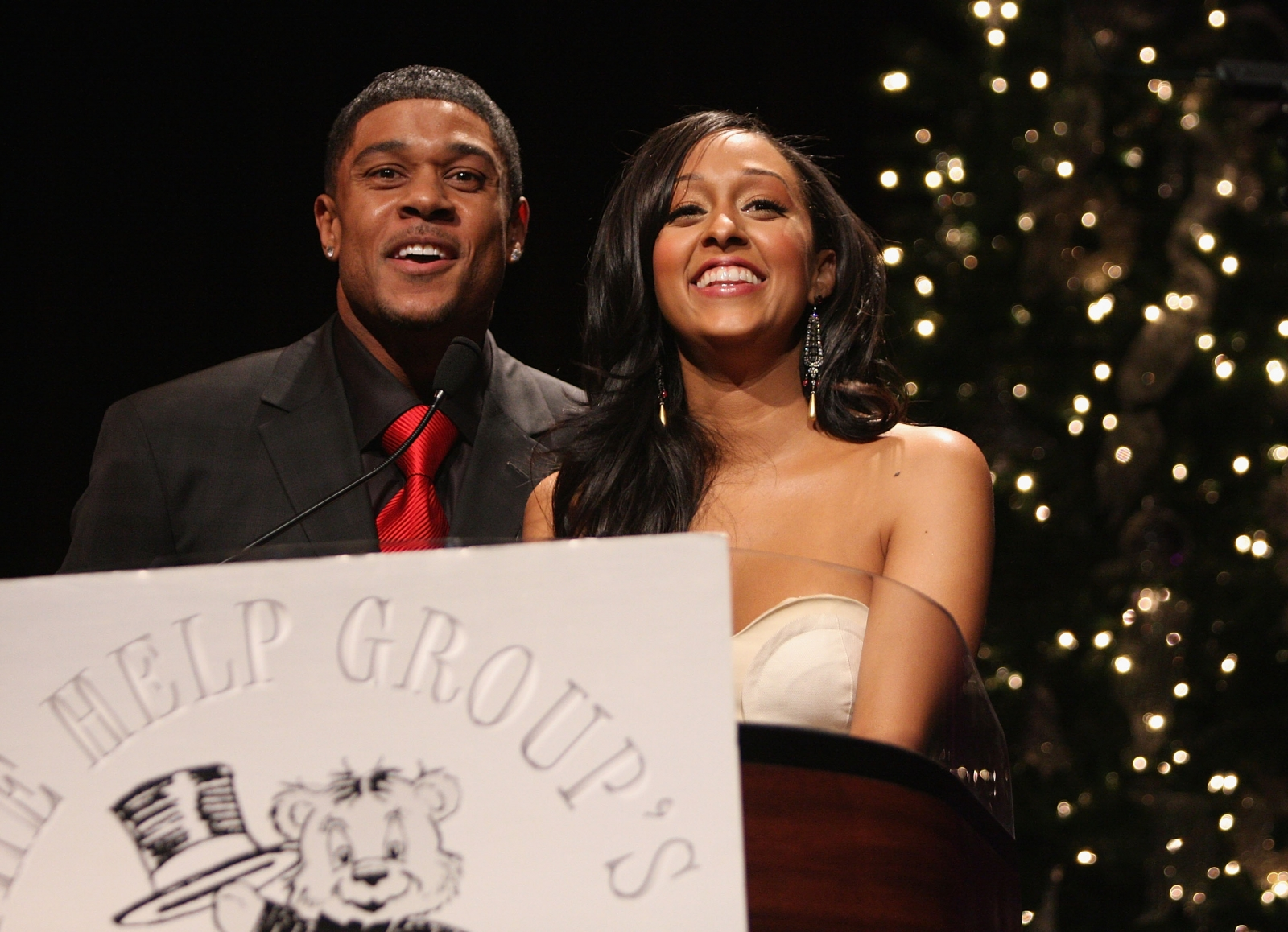 Tia Mowry and Pooch Hall