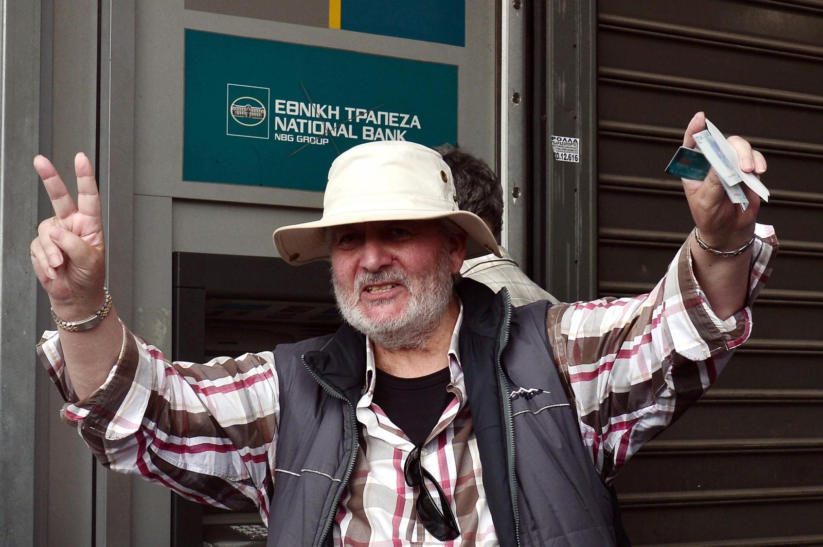 Greece crisis ATM