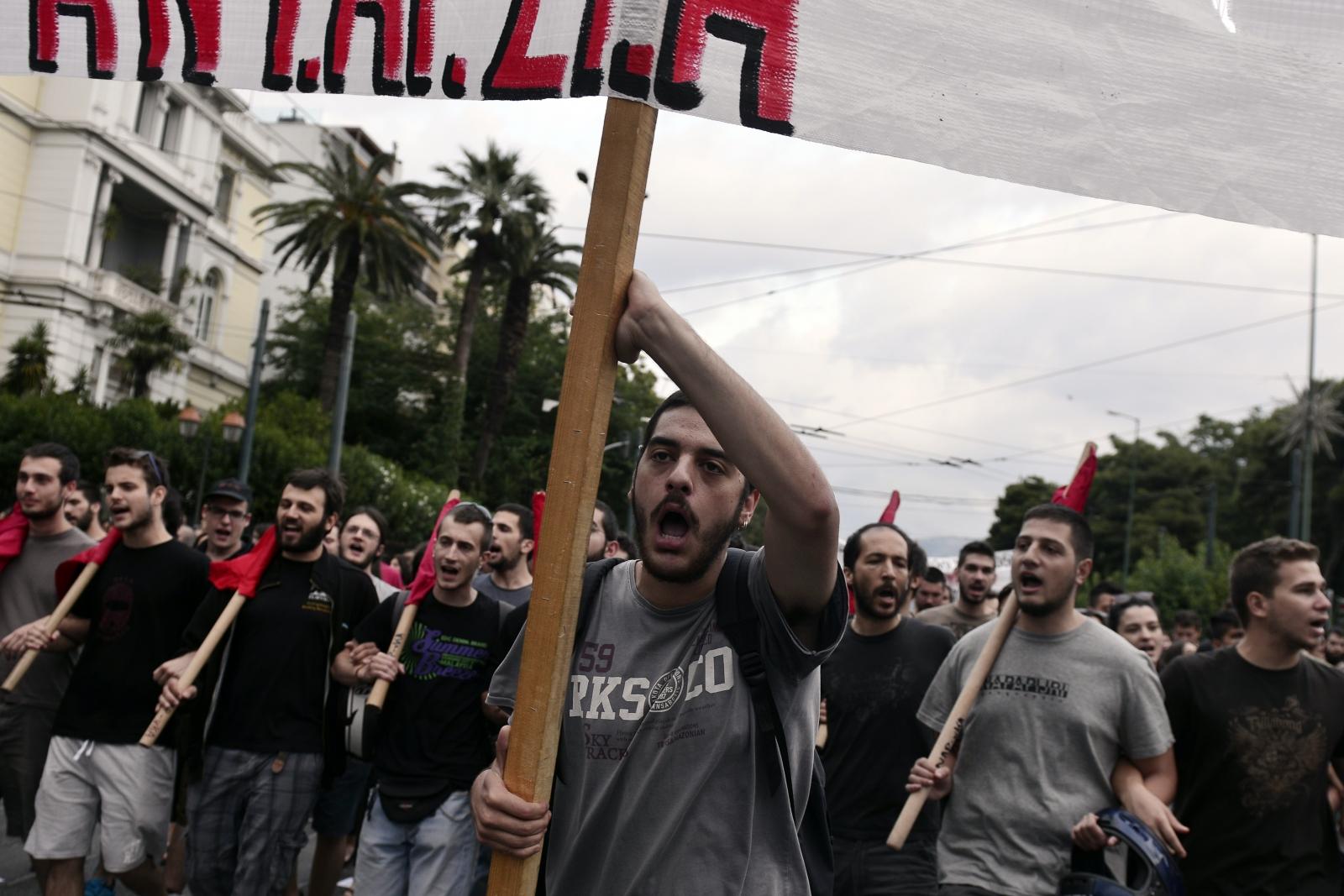 Greece crisis protest