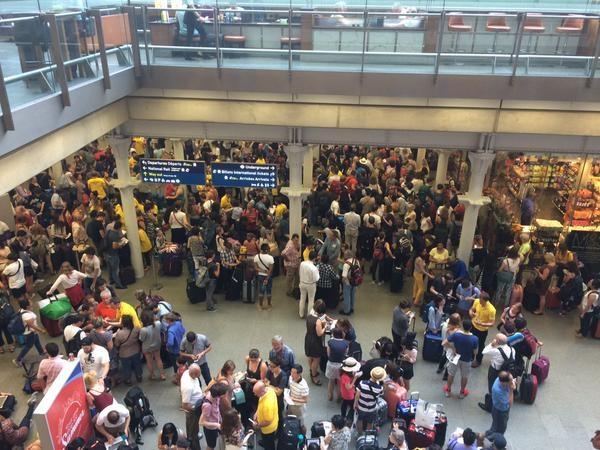 St Pancras Calais chaos