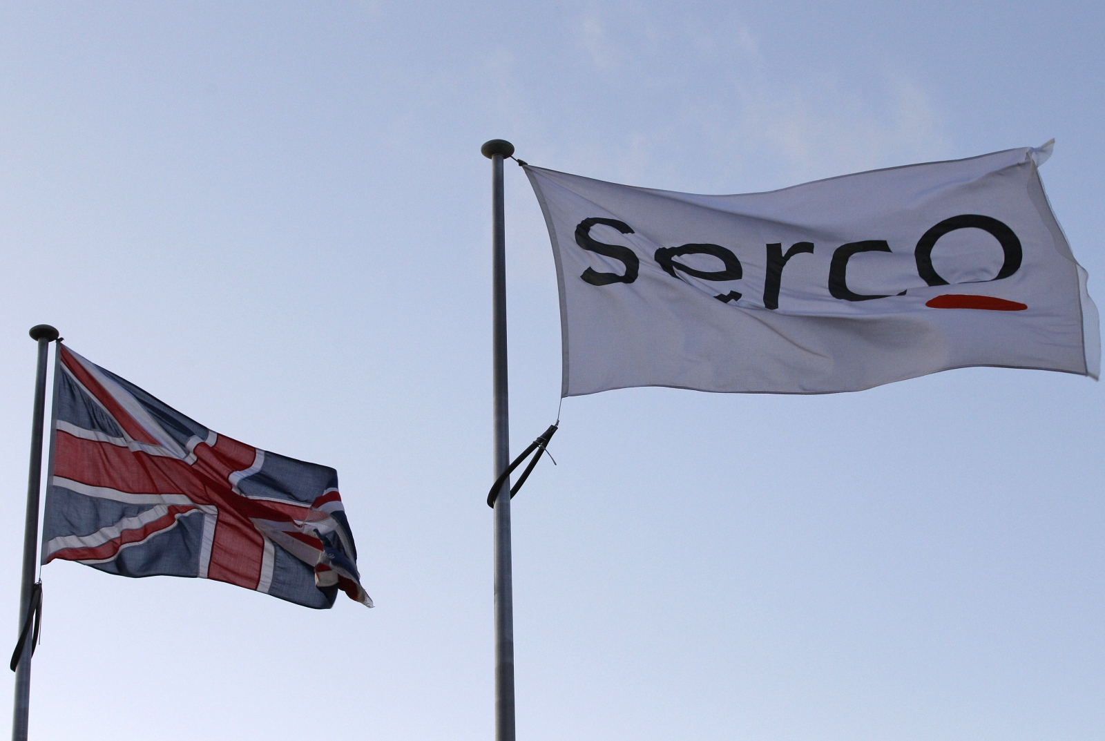 Serco logo on a flag