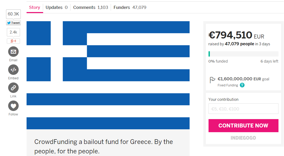 Greece indiegogo