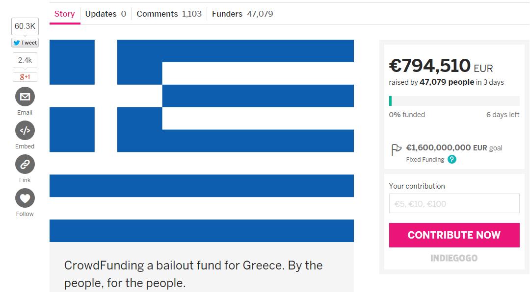 Greece indiegogo