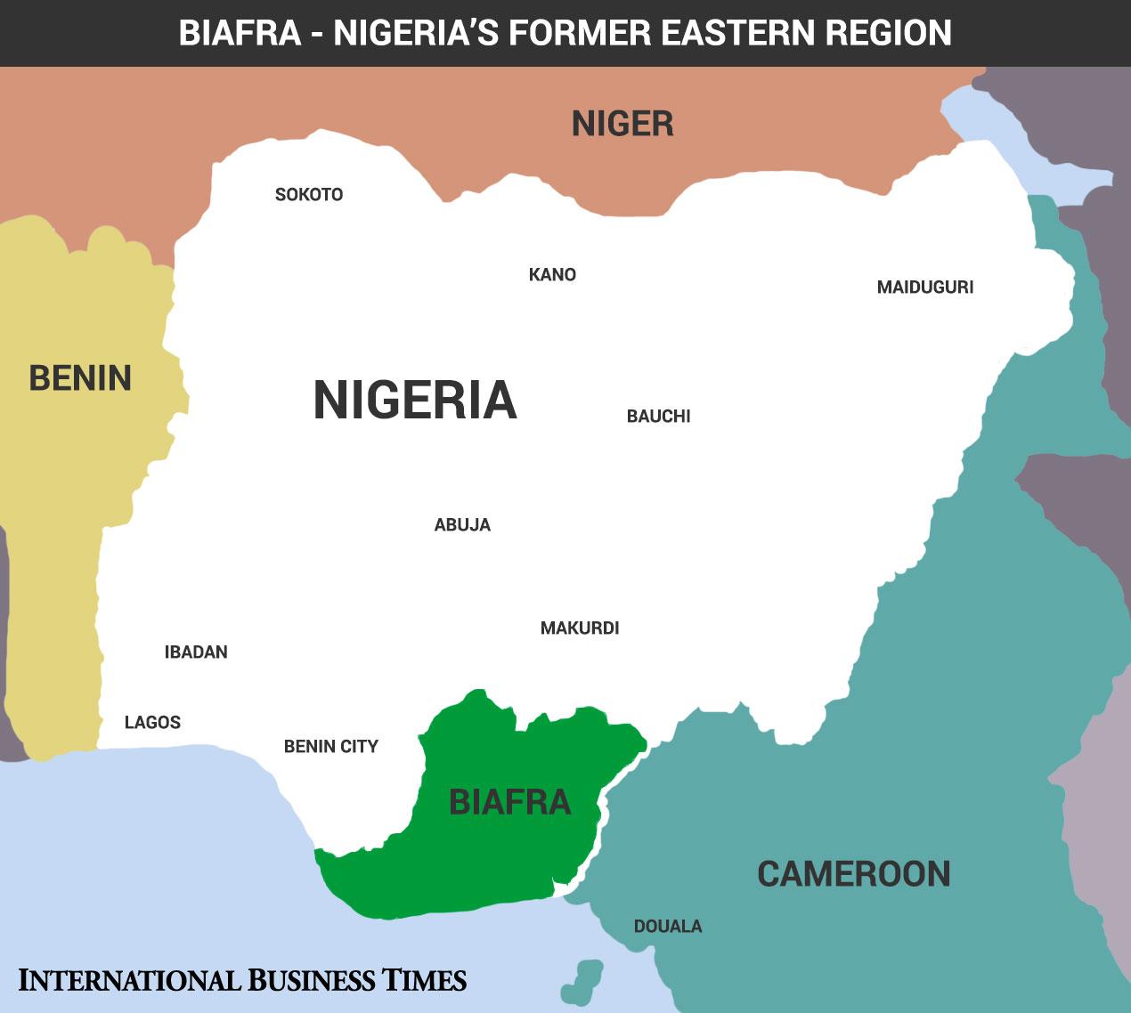 Biafra map