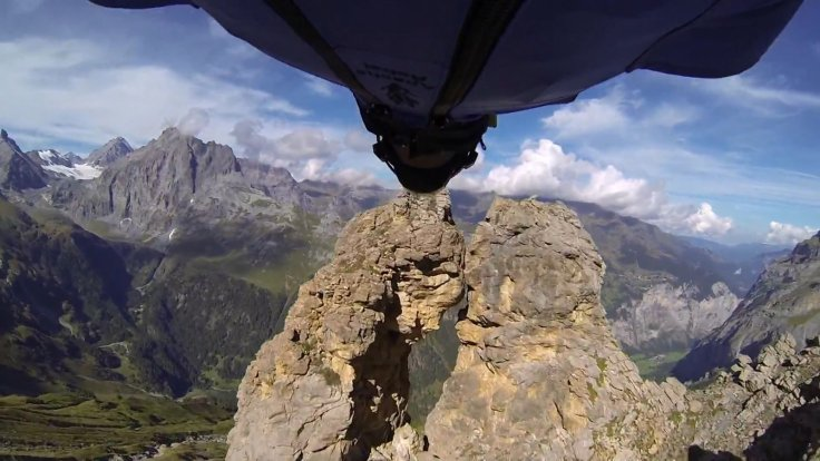 GoPro base jump