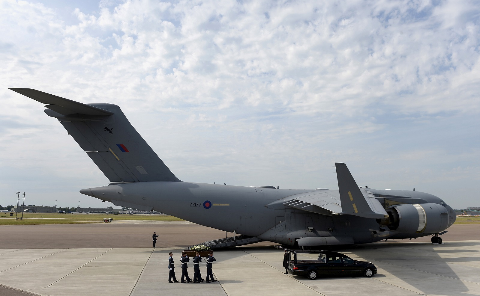 Repatriation at RAF Brize Nprton