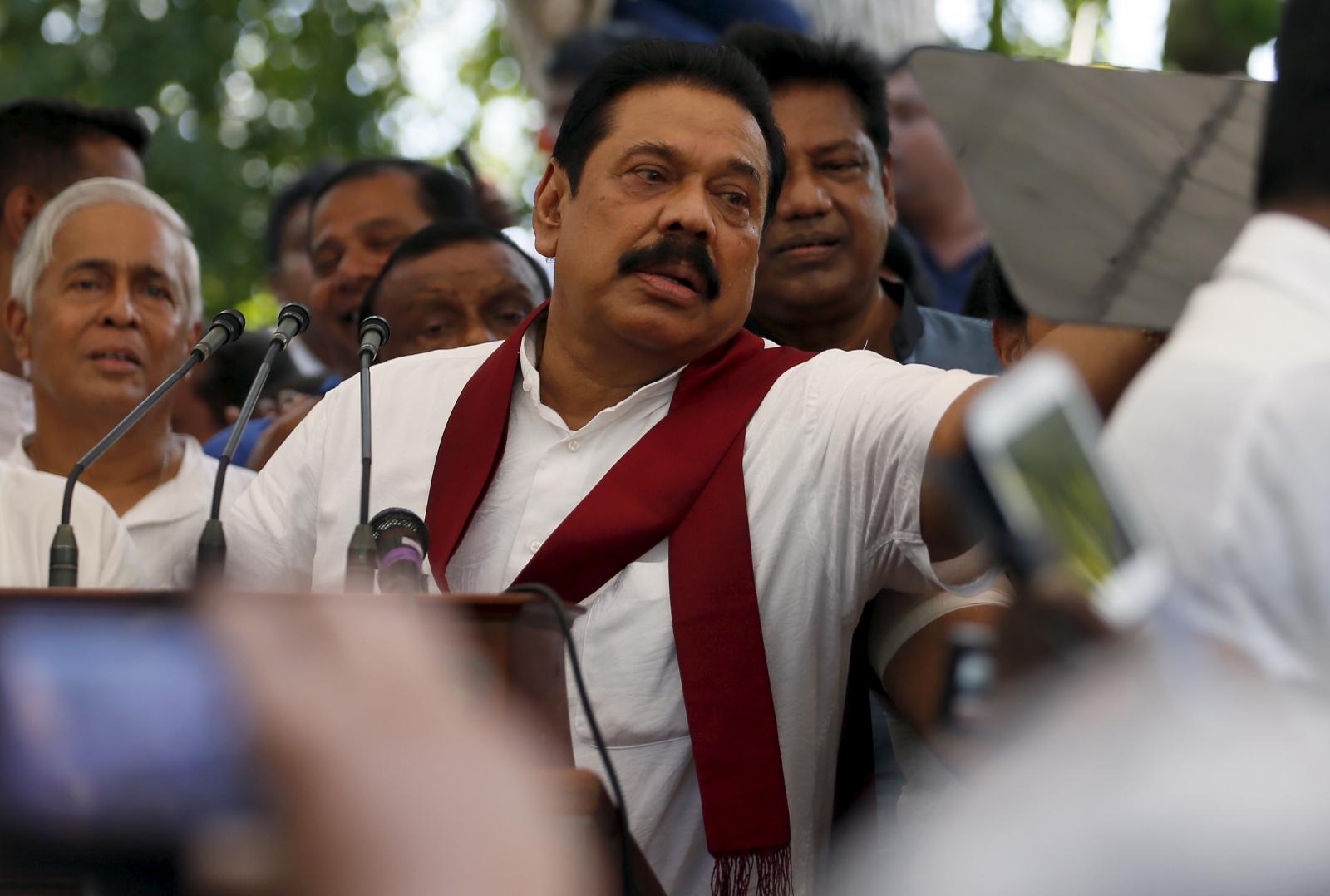 Sri Lanka former president Mahinda Rajapaksa